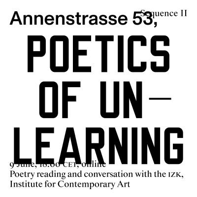 Poetics of Unlearning